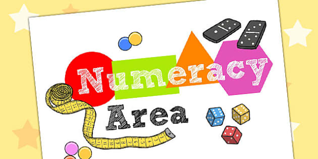 Numeracy Area Display Sign - numeracy area, numeracy display poster, numeracy display, numeracy poster, numeracy area poster, numeracy