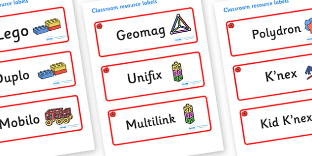 Poppy Themed Editable Construction Area Resource Labels - Themed Construction resource labels, Label template, Resource Label, Name Labels, Editable Labels, Drawer Labels, KS1 Labels, Foundation Labels, Foundation Stage Labels