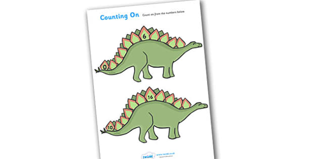Counting On Worksheets Dinosaurs -  Counting worksheet, Counting, activity, dinosaurs, how many, foundation numeracy, Counting on, Counting back