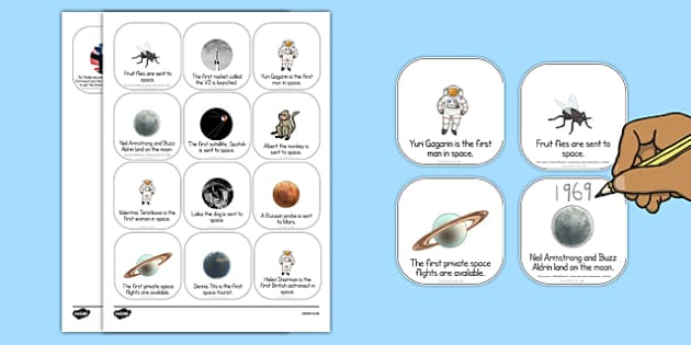 Space Travel Timeline Mixed Up Order Activity - space travel, timeline, mixed up order, order, activity