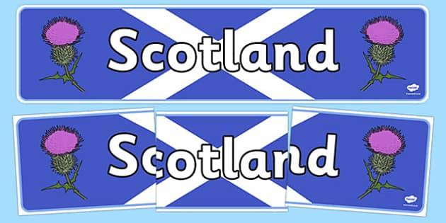 Scotland Display Banner - Scotland, Scottish, Thistle, display, banner, sign, poster