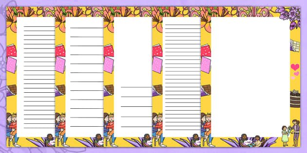 Australia Mother's Day Decorative Page Border