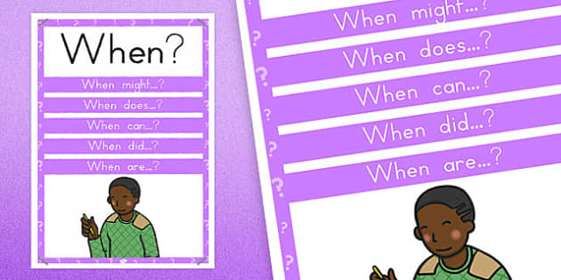 When? Question Poster - australia, question, poster, display, when