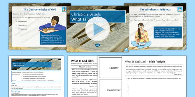 What Is God Like? Lesson Pack  - God; Omnipotent; Benevolent; Omniscient; Abrahamic