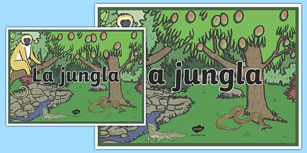 Cartel La jungla