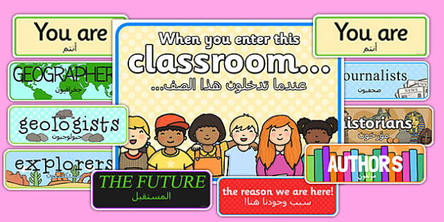 When You Enter this Classroom Display Pack Arabic Translation - arabic, enter, classroom, display