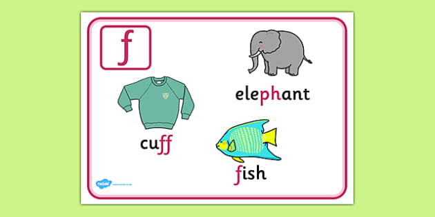 Alternative Spellings for f Display Poster - alternative spellings for f, display poster, f display poster, alternative spelling for f poster