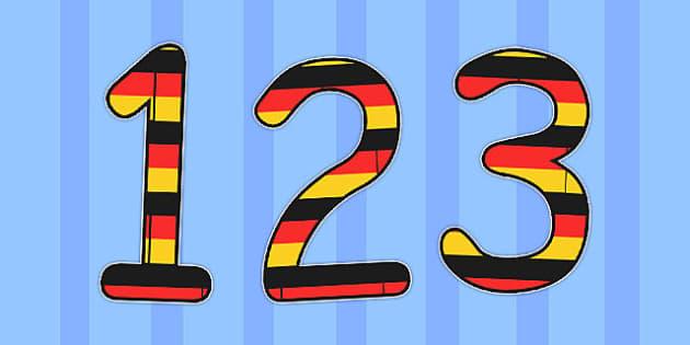 German Display Numbers Flag - german, display, numbers, flag