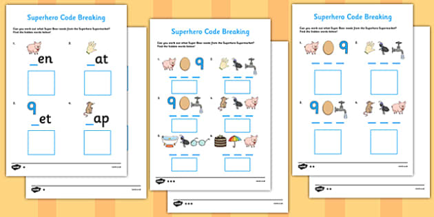 Superhero Code Breaking Activity Sheet - superhero, code, breaking, worksheet