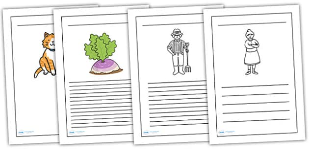 The Enormous Turnip Writing Frames - the enormous turnip, writing frames, writing guides, writing aid, writing template, line guides, themed writing frames