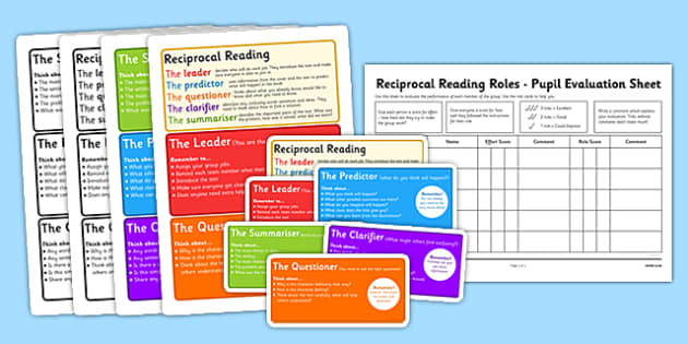 Guided Reading Role Cards - reading, role cards, guided reading