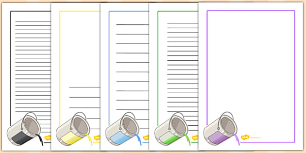 French Colours Page Borders - french, colours, page, borders
