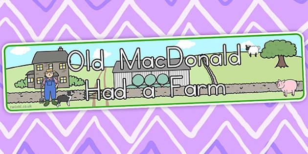 Old MacDonald Had a Farm Display Banner - australia, display