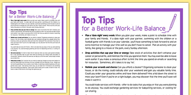 Care Staff Top Tips to Build in Work-Life Balance - care staff, top tips, build, work-life balance