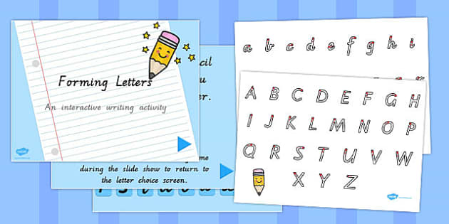 Letter Formation Sheet and PowerPoint Pack VIC - australia, letter formation