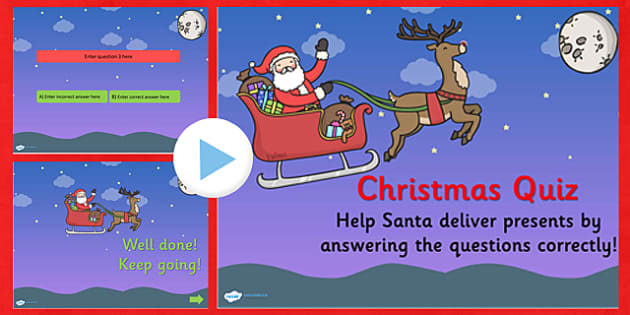 Editable Christmas Quiz PowerPoint - xmas, early years, quiz