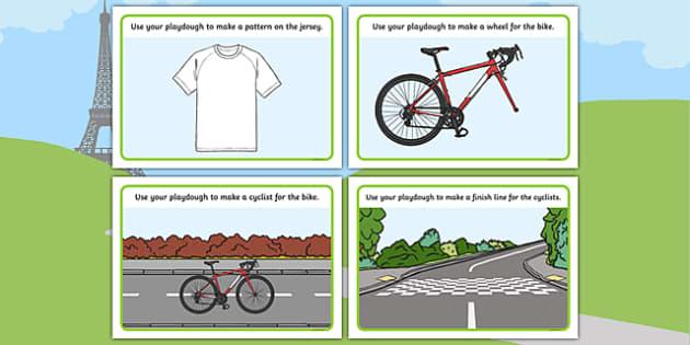 Tour de Yorkshire Themed Playdough Mats - le tour, fine motor skills