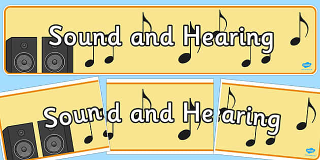 Sound And Hearing Display Banner - sound and hearing, display, banner, sign, poster, Listening Area, Music Area, Music, sound, sounds, display, poster, instruments, listen, listening