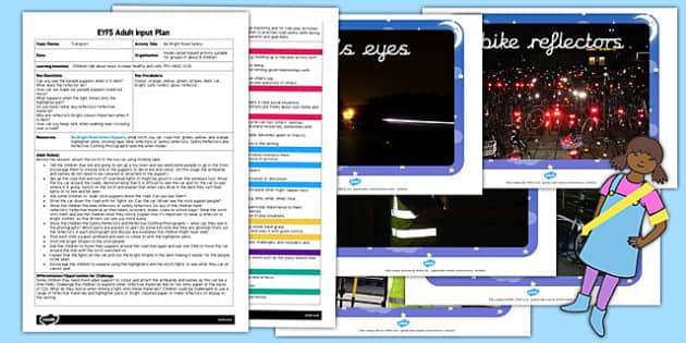 Be Bright Road Safety EYFS Adult Input Plan Template and Resource Pack