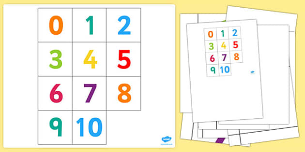 Bee Bot Number Mat - numbers, visual aid, counting aid, count