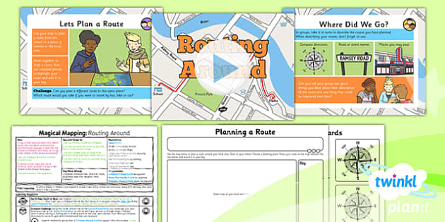PlanIt - Geography Year 2 - Magical Mapping Lesson 2: Routing Around Lesson Pack - maps, planning, geography, year 2, y 2, ks1, key stage 1, plans, lessons, lesson, unit, pack, 2014, curriculum, maps