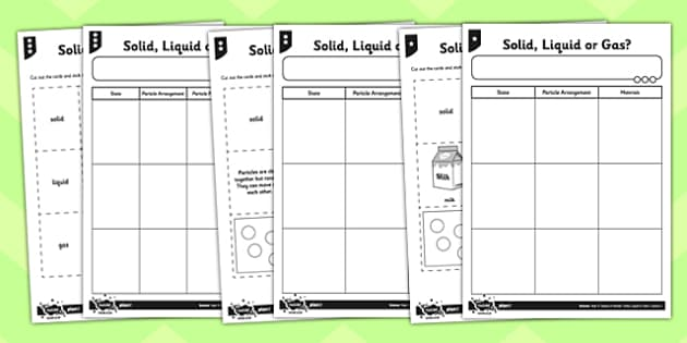 Solid Liquid or Gas Worksheet solids liquids and gases solids – Solids Liquids and Gases Worksheets