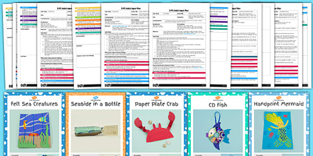 EYFS Under the Sea Craft with Accompanying Planning Pack - sea