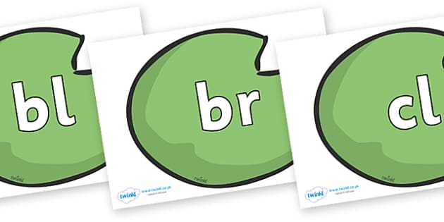 Initial Letter Blends on Lily Pads - Initial Letters, initial letter, letter blend, letter blends, consonant, consonants, digraph, trigraph, literacy, alphabet, letters, foundation stage literacy
