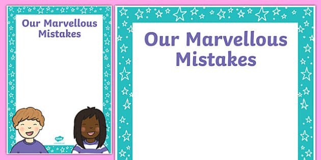 Growth Mindset Marvellous Mistakes A2 Display Poster-Australia