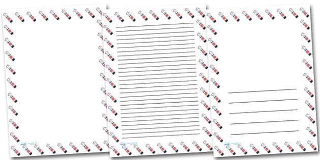 Glue Stick Portrait Page Borders- Portrait Page Borders - Page border, border, writing template, writing aid, writing frame, a4 border, template, templates, landscape