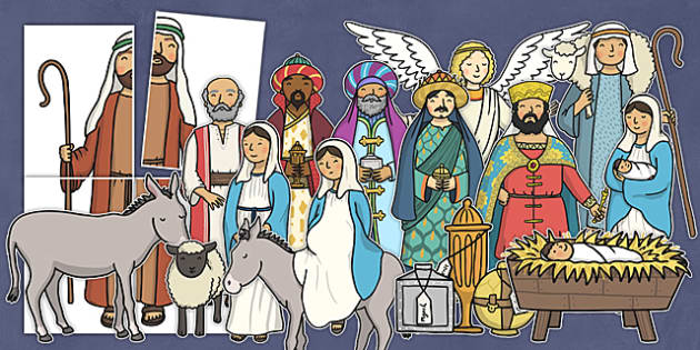 Nativity Large Display Cut Out Pack - nativity, display, cut outs, pack