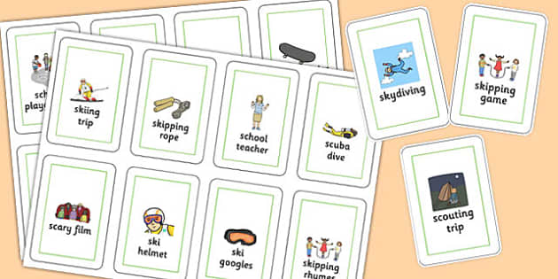 Three Syllable SC/SK Flash Cards - three syllable, sc/sk, flash cards