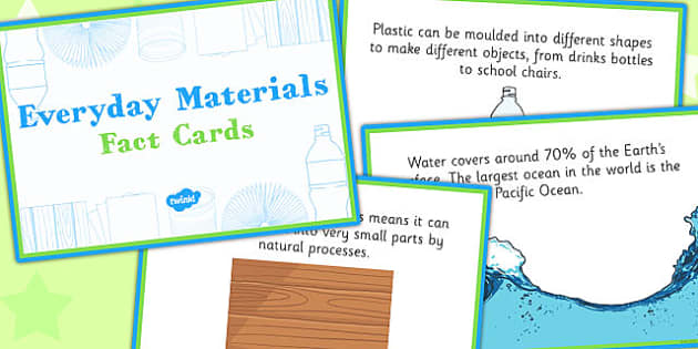 Everyday Materials Fact Cards - everyday, materials, fact cards