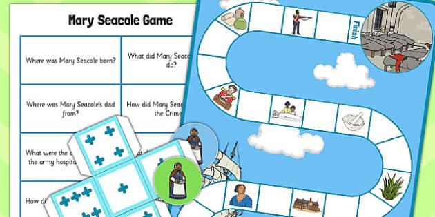 Mary Seacole Board Game - board, game, mary seacole, seacole