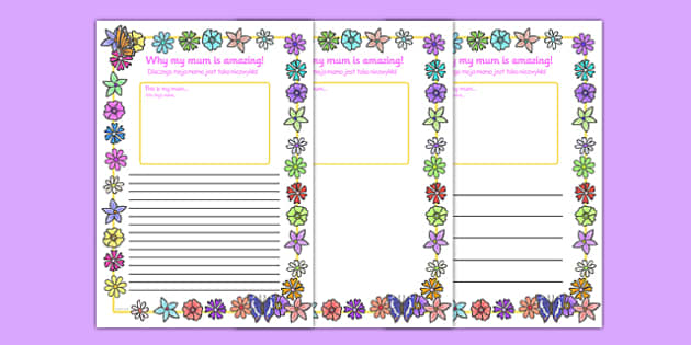 My Mum Is Amazing Page Borders Polish Translation - polish, Mother's day, my mum is amazing, page border, border, writing template, writing aid, writing, Mother's day activity, Mother's day resource