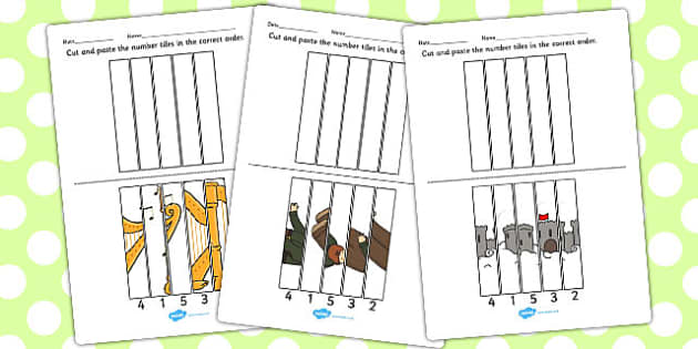 Jack and the Beanstalk Number Sequencing Puzzle - sequencing