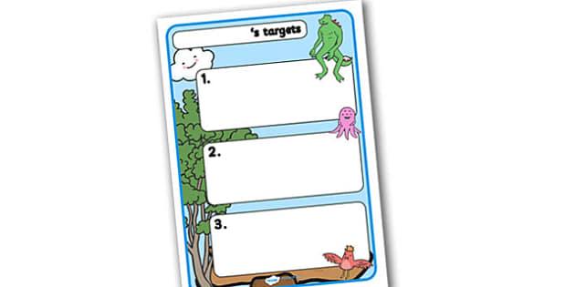 Themed Target Sheets Monster - Target Sheets, Themed Target Sheets, Monster Target Sheets, Monster Themed, Monster Themed Target Sheets