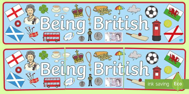 Being British Display Banner - britain, header, display, UK