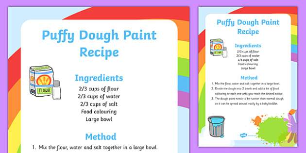 Dough Puffy Paint Recipe - dough, puffy, edible, paint, recipe