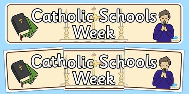 Catholic Schools Week Display Banner - display, banner, catholic