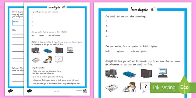 Inquiry Investigate it! Activity Sheet - Inquiry Cycle postersresearchingnote makingnote takinginvestigate it!plan it!