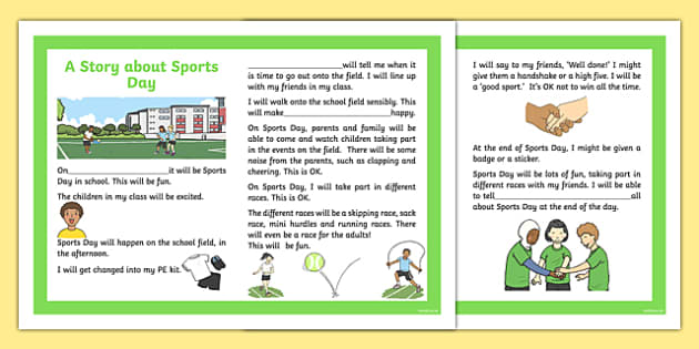 Sports Day Races and Field Events Social Stories