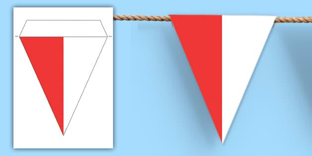 Poland Flag Bunting - poland flag, poland, flag, bunting, display bunting, display
