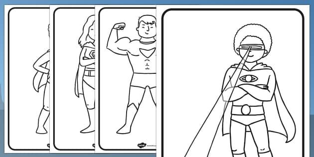 Superhero Colouring Sheets - Superhero, superheroes, Colouring Sheets, colouring, colouring activity, Superhero, superheroes, hero, batman, superman, spiderman, special, power, powers, catwoman, liono, he-man
