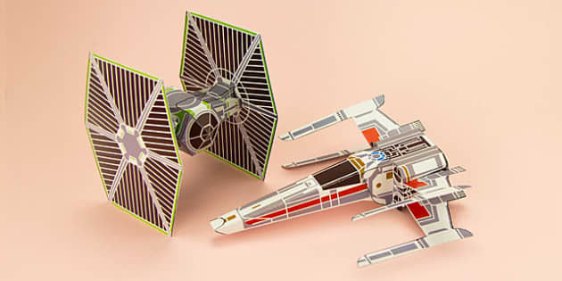 Enkl Sci-Fi Spaceship Paper Model Printables - Enkl, arts, crafts, activity, adult, home, decor, designer, designer, decoration, interior, project, printable, cute, simple, paper, models, 3D, shape, colour, geek, clean, star wars, star, wars, luke sk
