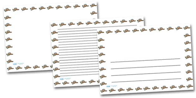 Nest Landscape Page Borders- Landscape Page Borders - Page border, border, writing template, writing aid, writing frame, a4 border, template, templates, landscape