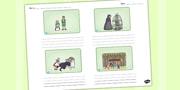 Hansel and Gretel Storyboard Template - storyboard, hansel gretel