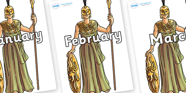 Months of the Year on Athena - Months of the Year, Months poster, Months display, display, poster, frieze, Months, month, January, February, March, April, May, June, July, August, September