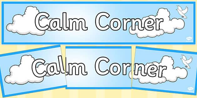 Calm Corner Display Banner - calm, corner, display banner, display