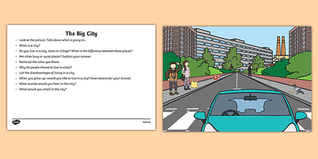 The Big City Oral Language  Activity Sheet-Irish, worksheet